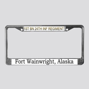 1st bn 24th inf License Plate Frame