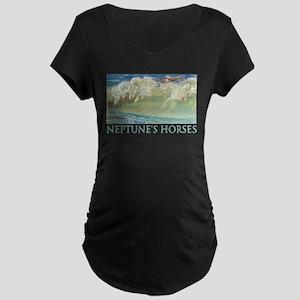 NEPTUNE'S HORSES Maternity Dark T-Shirt