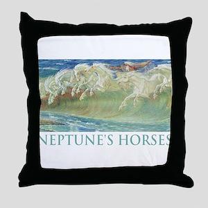 NEPTUNE'S HORSES Throw Pillow