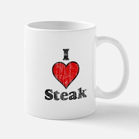 Vintage I heart Steak Mug