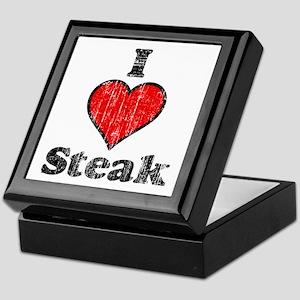 Vintage I heart Steak Keepsake Box