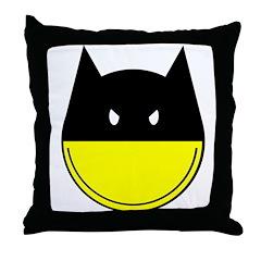 Bat Smiley Throw Pillow