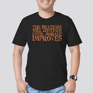 The Beatings Will Continue Un Men's Fitted T-Shirt