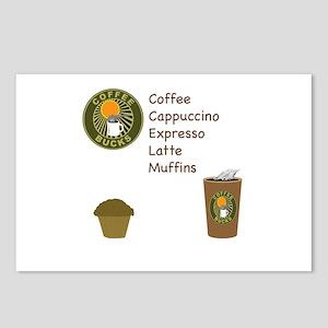Coffee Bucks Menu Postcards (Package of 8)