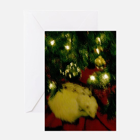 Cute Ferret christmas Greeting Card