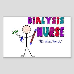 Renal Nephrology Nurse Rectangle Sticker )