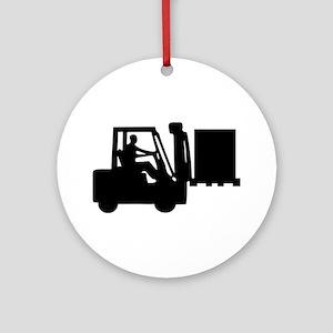Forklift Ornament (Round)