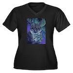 Star Fox Women's Plus Size V-Neck Dark T-Shirt