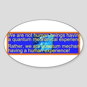 Quantum Mechanics quotes&Jokes Oval Sticker