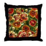 Bright Blanket Flower Throw Pillow