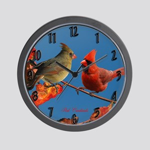 Cardinal pair Wall Clock