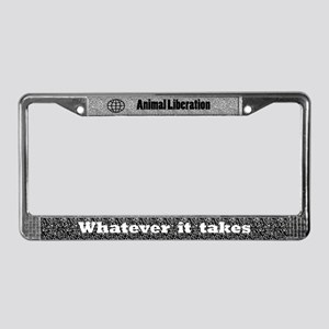 Worldwide Animal Liberation License Plate Frame