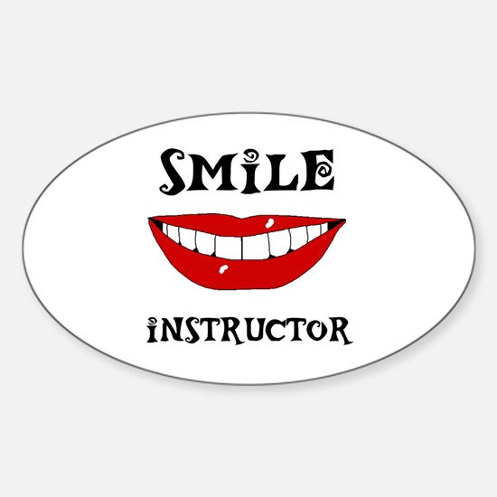 LET'S SEE SOME TEETH Oval Sticker (10 pk)
