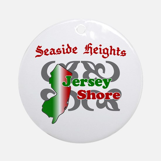 Seaside Heights Jersey Shore Ornament (Round)
