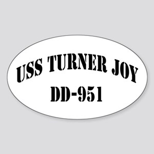 USS TURNER JOY Oval Sticker