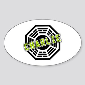Charlie Dharma Logo from LOST Oval Sticker