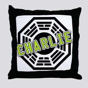 Charlie Dharma Logo from LOST Throw Pillow