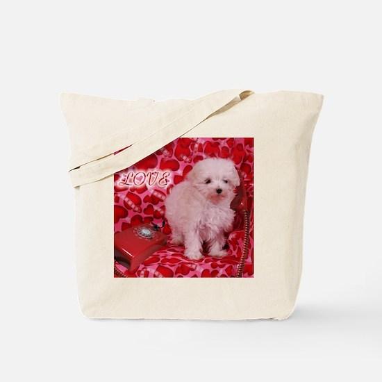 Love Puppy Tote Bag