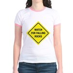 Watch For Falling Rocks Jr. Ringer T-Shirt