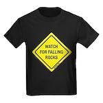 Watch For Falling Rocks Kids Dark T-Shirt