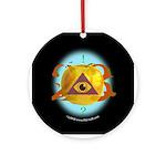 Illuminati Golden Apple Ornament (Round)