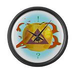 Illuminati Golden Apple Large Wall Clock
