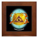 Illuminati Golden Apple Framed Tile