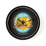 Illuminati Golden Apple Wall Clock
