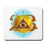 Illuminati Golden Apple Mousepad