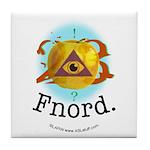 Illuminati GoldenApple Fnord Tile Coaster