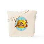 Illuminati Golden Apple Tote Bag