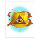 Illuminati Golden Apple Small Poster
