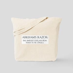 Arkham's Razor Tote Bag