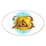 Illuminati Golden Apple Oval Sticker (50 pk)