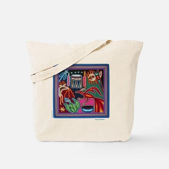 """Huichol Art: """"Making Magic"""" Tote Bag"""