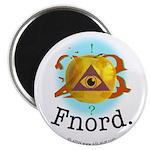 Illuminati GoldenApple Fnord Magnet