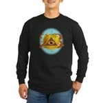 Illuminati Golden Apple Long Sleeve Dark T-Shirt