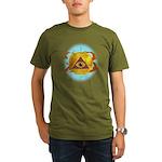 Illuminati Golden Apple Organic Men's T-Shirt (dar