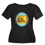 Illuminati Golden Apple Women's Plus Size Scoop Ne