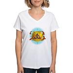 Illuminati Golden Apple Women's V-Neck T-Shirt