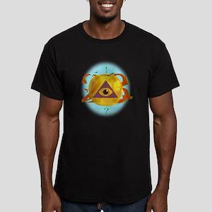 Illuminati Golden Apple Men's Fitted T-Shirt (dark