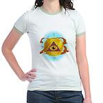 Illuminati Golden Apple Jr. Ringer T-Shirt