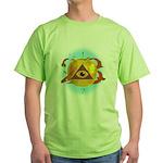 Illuminati Golden Apple Green T-Shirt
