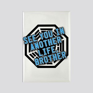 Desmond Quote with Dharma Logo Rectangle Magnet