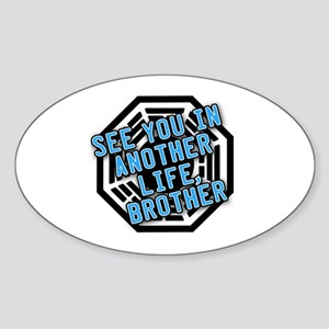 Desmond Quote with Dharma Logo Oval Sticker