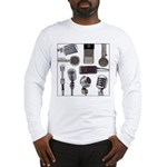 Retro Microphone Collage Long Sleeve T-Shirt