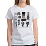 Retro Microphone Collage Women's T-Shirt