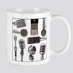 Retro Microphone Collage Mug