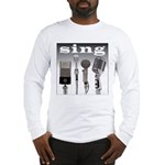 4 Microphones with Sing Long Sleeve T-Shirt