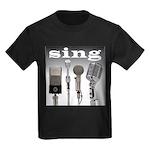 4 Microphones with Sing Kids Dark T-Shirt